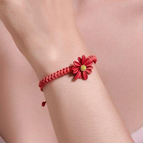 Bracelet en alliage d'étudiants de corde rouge tissé à la main simple petite marguerite coréenne NHDP240746's discount tags