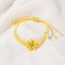 Bracelet en alliage d39tudiants de corde rouge tiss  la main simple petite marguerite corenne NHDP240746