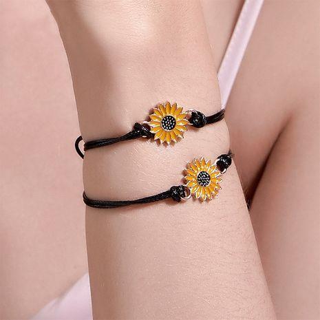 Couple d'été Daisy Bracelet de corde à main en alliage de corde noire simple pour les femmes en gros NHDP240748's discount tags