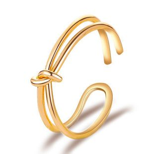 new simple knotted minimalist opening adjustable bow ring wholesale nihaojewelry NHMO241114's discount tags