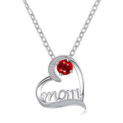 new love letter simple heart-shaped copper inlaid colorful zircon pendant necklace for women NHMO241118's discount tags