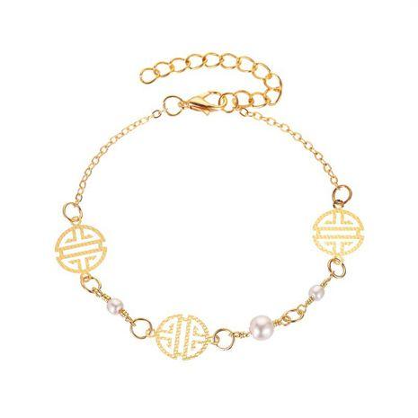 Nuevo calzado redondo de perlas de aleación geométrica para el tobillo para mujer NHMO241120's discount tags
