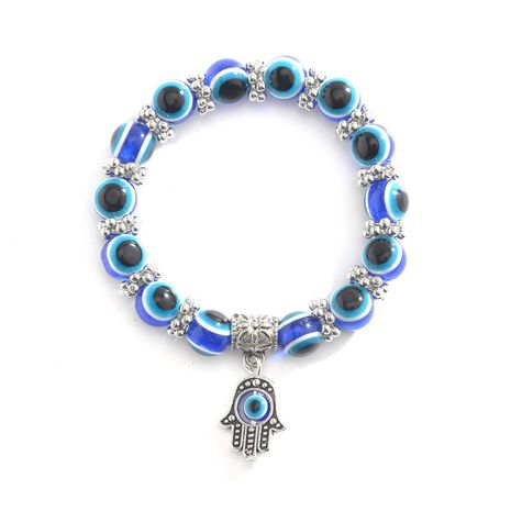 Retro Blue Eye Bead Fatima  Fashion Evil Eye Bracelet wholesale  NHMO241126's discount tags