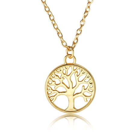 Mode rétro arbre de vie pendentif alliage dames paix arbre collier chaîne de la clavicule NHMO241133's discount tags