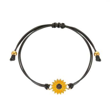 Fashion hot sale Couple Daisy Simple Black Rope Bracelet Ladies Hand Rope  NHMO241134's discount tags
