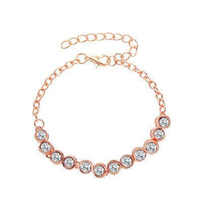 Nouveau cristal simple rond zircon bracelet mode dames bracelet sauvage en gros NHMO241137's discount tags