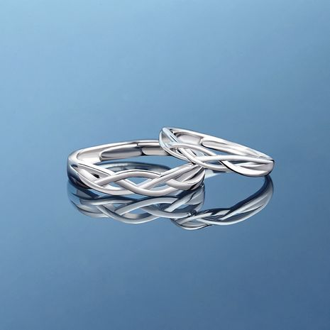 new couple fashion index finger ring 925 silver trendy ring wholesale nihaojewelry NHPP241063's discount tags