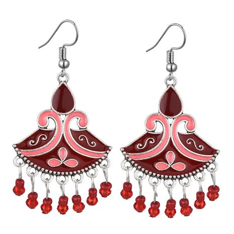 fashion retro clan style simple fan-shaped drop earrings wholesale nihaojewelry NHSC241240's discount tags
