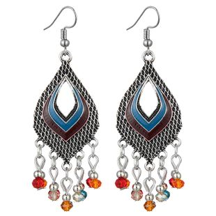 fashion retro clan style simple water drop earrings wholesale nihaojewelry NHSC241238's discount tags