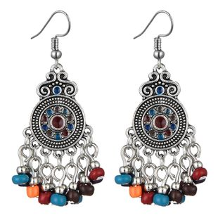 fashion retro celebrity style simple metal round water drop earrings wholesale nihaojewelry NHSC241243's discount tags