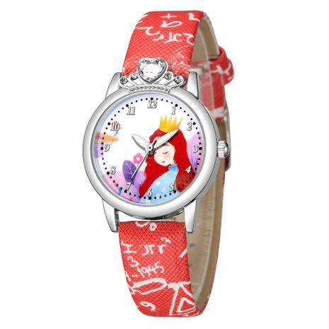 Lindo y dulce estilo princesa pequeña correa de reloj conjunto de diamantes reloj de mano al por mayor NHSS241147's discount tags
