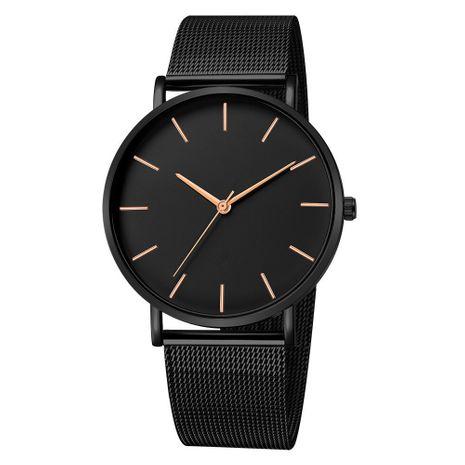 Reloj de correa de malla de cuarzo ultrafino de moda reloj de negocios de hombre de cuarzo de escala simple al por mayor NHSS241155's discount tags