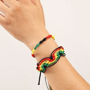 Fashion hand-woven rope two suit  trend wild multi-layer women's Bracelet wholesale NHLA241223's discount tags
