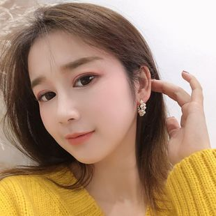 New romantic fairy elegant C-shaped pearl zircon alloy earrings for women wholesale NHBQ241227's discount tags