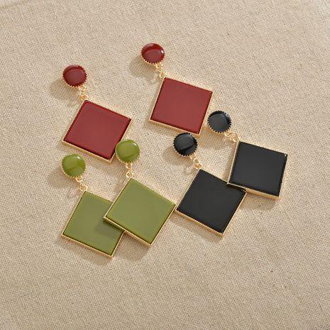 Losange simple géométrique carré boucles d'oreilles plaque acrylique disque boucles d'oreilles exagérées en gros nihaojewelry NHBQ241228's discount tags