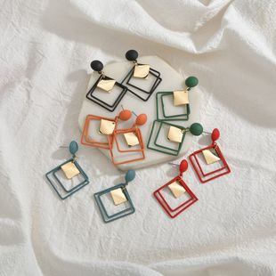Korea geometric diamond hollow simple earrings wholesale nihaojewelry NHBQ241233's discount tags