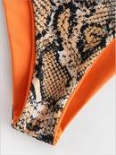 maillot de bain une paule imprim serpent sexy style chaud maillot de bain en gros nihaojewelry NHHL241285