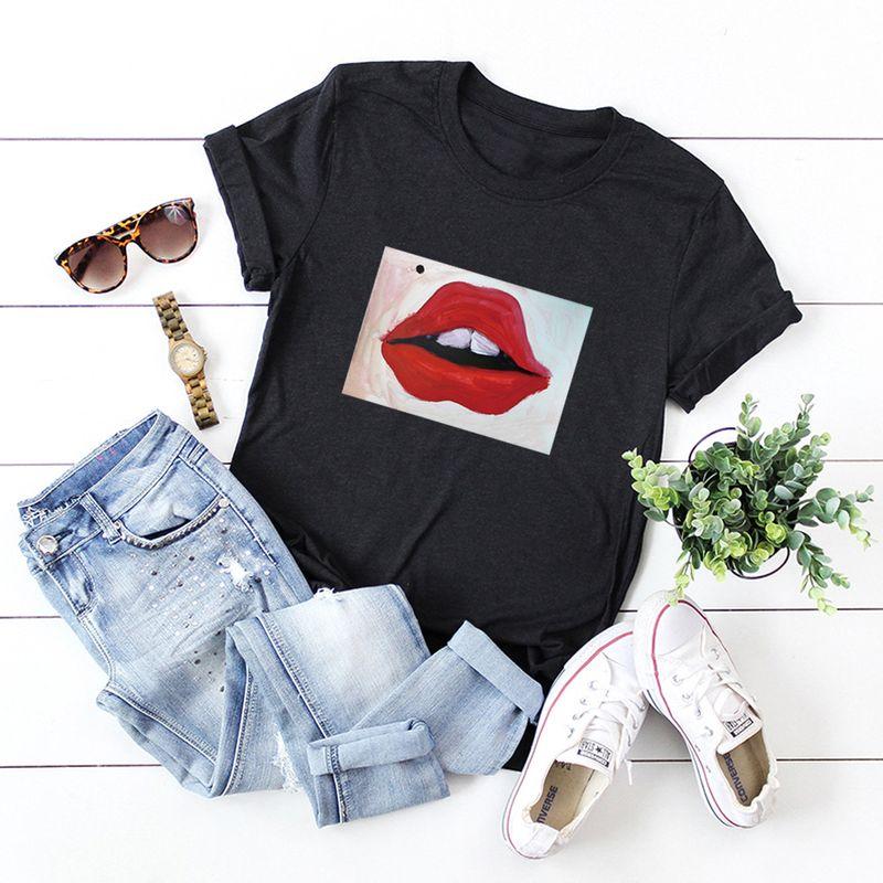 hot models Slim cotton comfortable casual plus size shortsleeved womens Tshirt NHSN241322