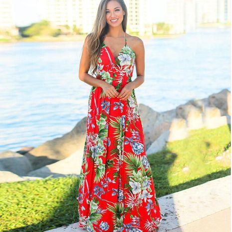 Vestido de playa con estampado de honda de moda para mujer nueva de verano al por mayor NHYF241352's discount tags