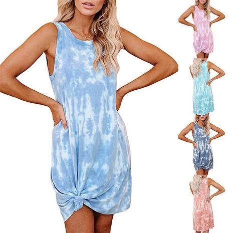 Vestido de chaleco suelto con estampado tie-dye para mujer nueva NHYF241353's discount tags