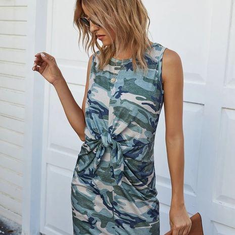 Vestido de cinturón de camuflaje de moda venta caliente al por mayor NHYF241361's discount tags