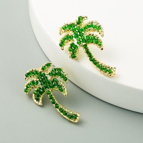 simple green coconut  cute  earrings wholesale nihaojewelry NHLN241399's discount tags