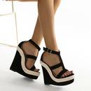 Fashion new womens sexy wedge waterproof platform high heel large size sandals NHSO241423