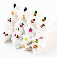 Calcetines blancos puros tridimensionales de las mujeres del barco de la historieta al por mayor NHFN216562