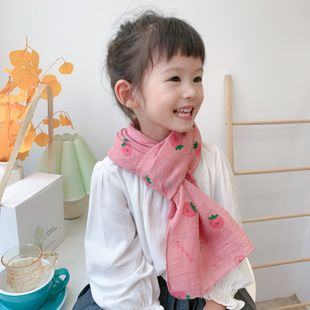 new Korean children's cotton and linen scarf Korean baby silk cartoon scarf wholesale NHCJ241458's discount tags