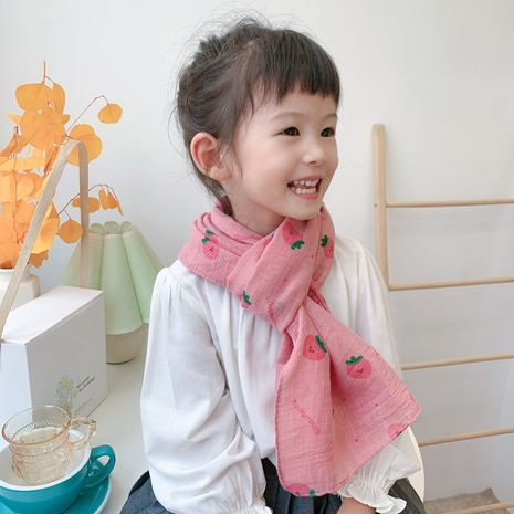 new Korean children's cotton and linen scarf Korean baby silk cartoon scarf wholesale NHCJ241458's discount tags