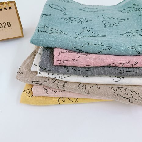 new cotton and linen printing baby long scarf Korean dinosaur cartoon scarf wholesale NHTZ241489's discount tags