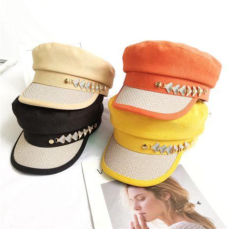 nuevo verano coreano salvaje invierno pato lengua sombrero boina sombrero octogonal para mujer NHCM241510's discount tags