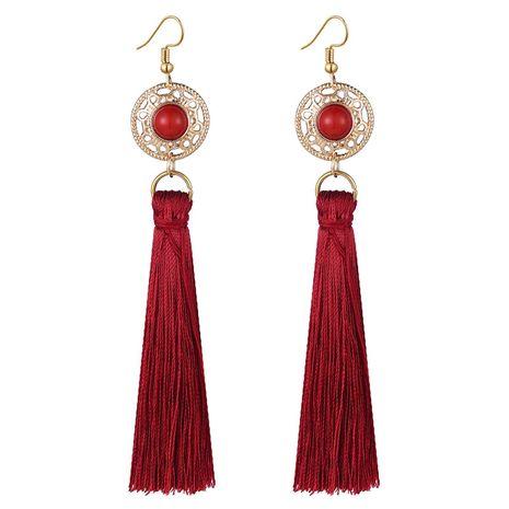 fashion metal wild tassel earrings NHSC242057's discount tags
