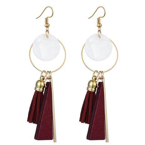 boucles d'oreilles de forme géométrique cercle concis en métal de mode NHSC242056's discount tags