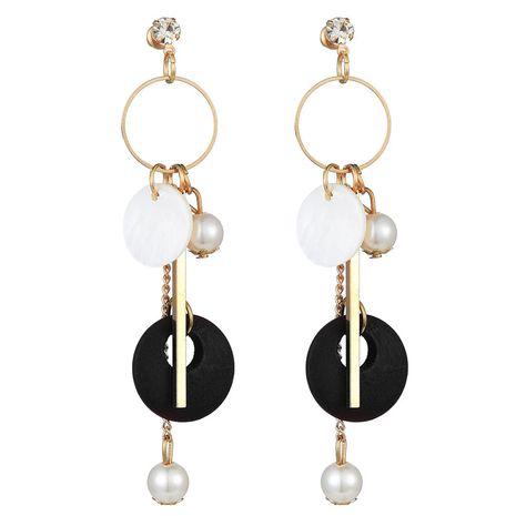 boucles d'oreilles simples en métal à la mode NHSC242054's discount tags
