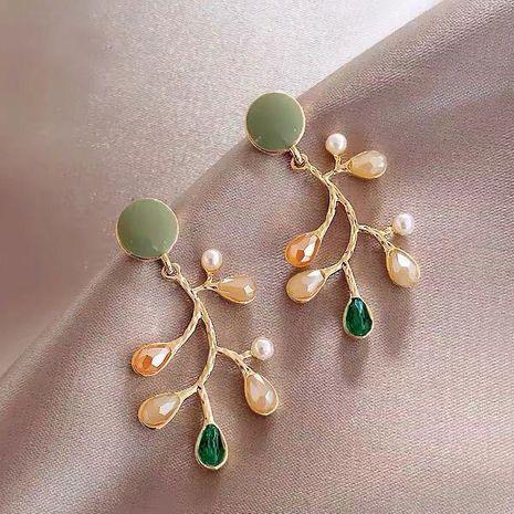 925 argent aiguille mode coréenne doux texture couleur branche boucles d'oreilles NHSC241901's discount tags