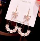 Korean fashion  elegant pearl drop alloy earrings wholesale NHSC241899