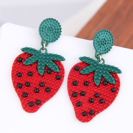 925 Silver Needle Fashion Sweet Fruit Watermelon Stud alloy Earrings wholesale nihaojewelry NHSC242045's discount tags