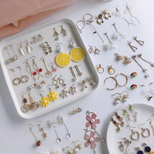 Boucles d'oreilles de fleurs de gland de perle d'amour géométrique populaire coréen en gros nihaojewelry NHWF241599's discount tags