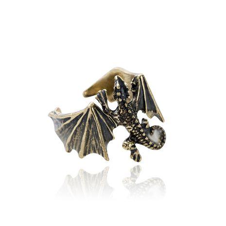 Venta caliente retro hombres anillo de moda ajustable anillo de lagarto luminoso nihaojewelry al por mayor NHAN241607's discount tags