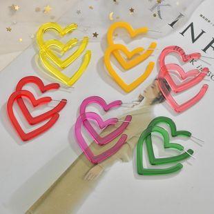 vente chaude mode amour acrylique étoile boucles d'oreilles géométriques boucles d'oreilles coeur pêche en gros nihaojewelry NHBQ241628's discount tags