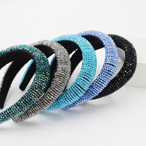 fashion crystal sponge gold velvet handmade beaded  headband for women NHWJ241688's discount tags