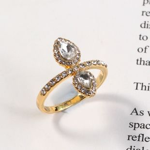 fashion new simple retro exquisite geometric pattern diamond ring wholesale nihaojewelry NHKQ241712's discount tags