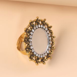 bague réglable créative mode style ethnique bague en diamant sculpté en gros nihaojewelry NHKQ241721's discount tags