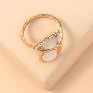 mode nouvelle bague en diamant géométrique simple bague en alliage métallique feuille rétro en gros nihaojewelry NHKQ241723's discount tags