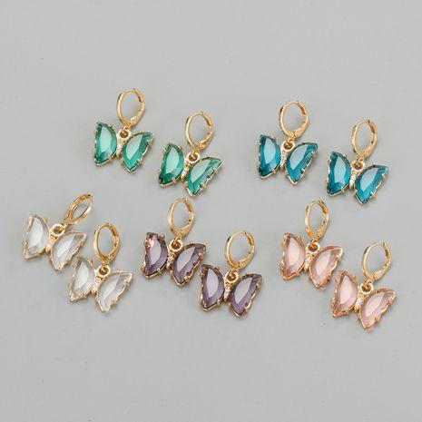 pendientes de mariposa de cristal exquisitos pendientes de cristal con diamantes incrustados al por mayor nihaojewelry NHGO241732's discount tags