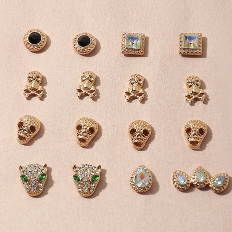 animal rhinestone skull Halloween earrings set wholesale nihaojewelry NHNZ241738's discount tags
