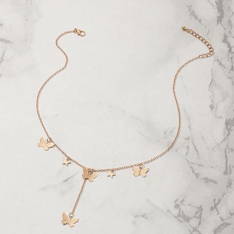 Collier de chaîne de clavicule en étoile à cinq branches en alliage de papillon de mode pour les femmes NHNZ241741's discount tags