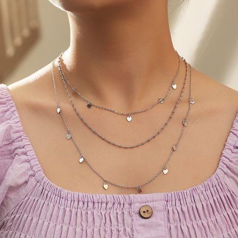 Collier pendentif amour simple perle ronde en alliage multicouche de mode rétro NHNZ241743's discount tags