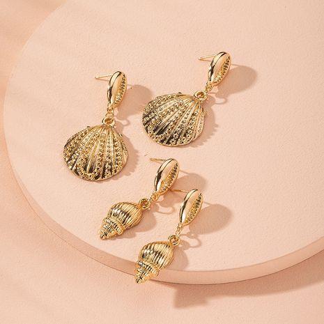 boucle d'oreille en forme de coquille plaqué or de mode en gros nihaojewelry NHAI241755's discount tags
